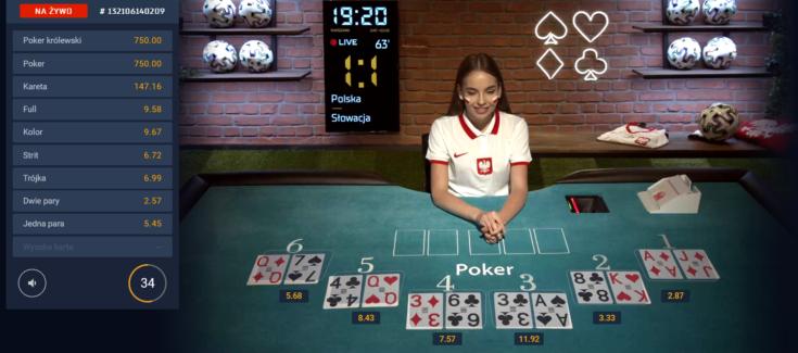Gry karciane - poker polski stół w STS
