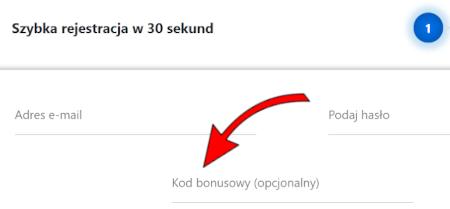 Gdzie wpisać kod bonusowy - przykład Etoto