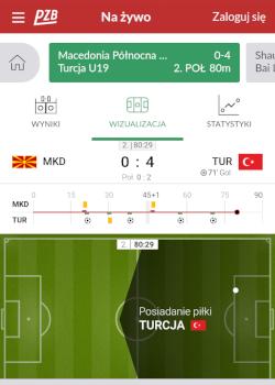 Aplikacja bukmacherska PZBuk - match-tracker